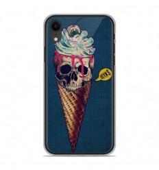 Coque en silicone Apple iPhone XR - Ice cream skull blue