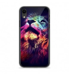 Coque en silicone Apple iPhone XR - Lion swag