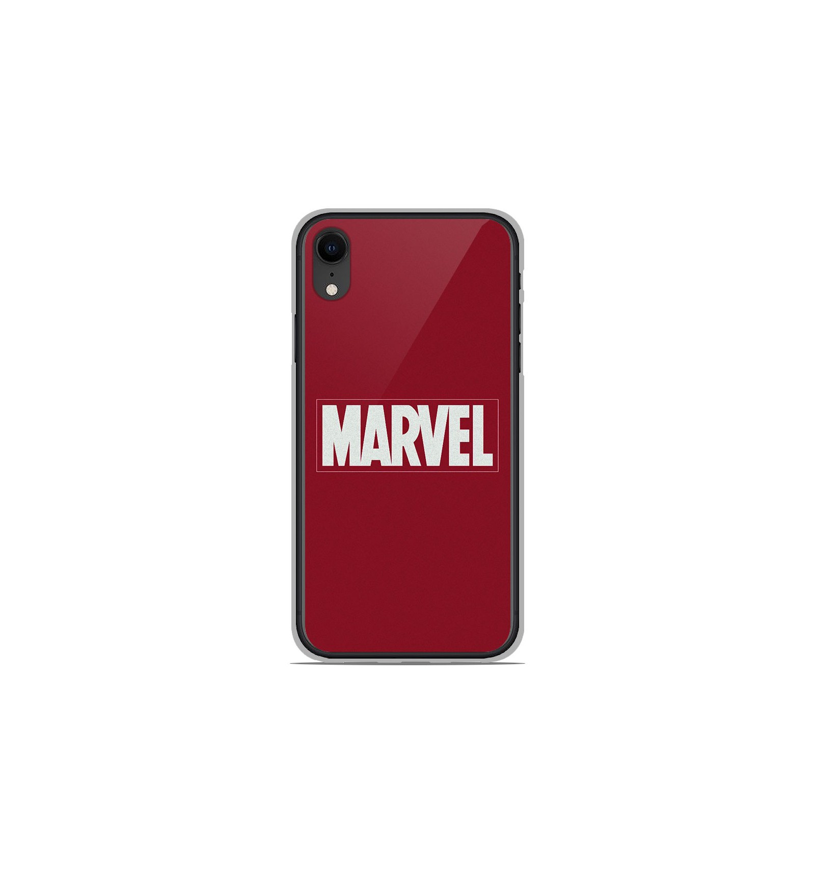 coque en silicone apple iphone xr marvel