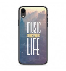 Coque en silicone Apple iPhone XR - Music is life