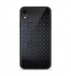 Coque en silicone Apple iPhone XR - Texture metal