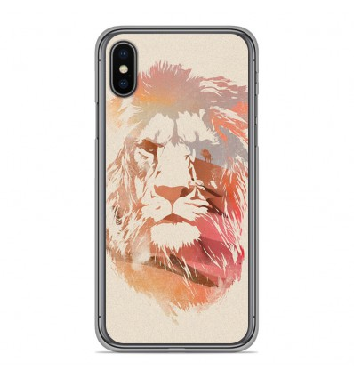 Coque en silicone Apple iPhone XS Max - RF Desert Lion