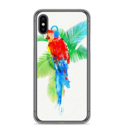 Coque en silicone Apple iPhone XS Max - RF Tropical party