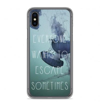 Coque en silicone Apple iPhone XS Max - Escape
