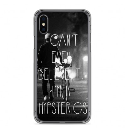 Coque en silicone Apple iPhone XS Max - Hipsterics