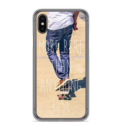 Coque en silicone Apple iPhone XS Max - Real