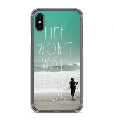 Coque en silicone Apple iPhone XS Max - Surfer