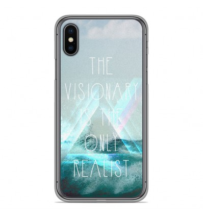 Coque en silicone Apple iPhone XS Max - Visionary