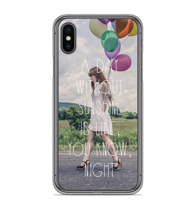 Coque en silicone Apple iPhone XS Max - Woman