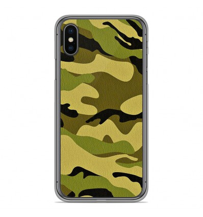 Coque en silicone Apple iPhone XS Max - Camouflage