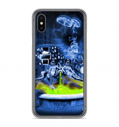 Coque en silicone Apple iPhone XS Max - Fontaine