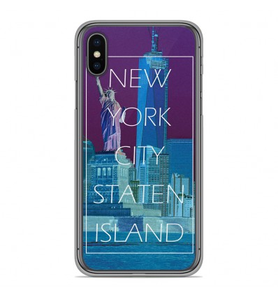 Coque en silicone Apple iPhone XS Max - New york