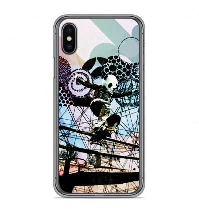 Coque en silicone Apple iPhone XS Max - Panda skater