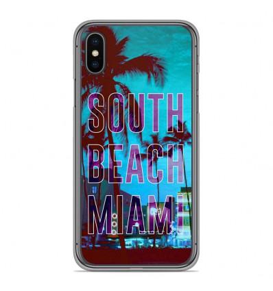Coque en silicone Apple iPhone XS Max - South beach miami