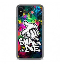Coque en silicone Apple iPhone XS Max - Swag or die