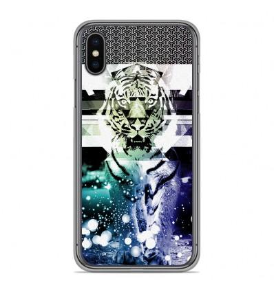 Coque en silicone Apple iPhone XS Max - Tigre swag
