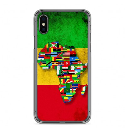 Coque en silicone Apple iPhone XS Max - Drapeau Africa Unite