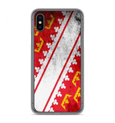 Coque en silicone Apple iPhone XS Max - Drapeau Alsace