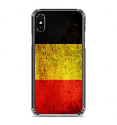 Coque en silicone Apple iPhone XS Max - Drapeau Belgique