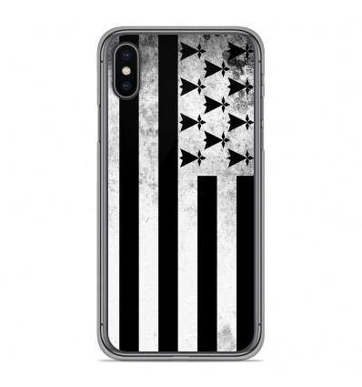 Coque en silicone Apple iPhone XS Max - Drapeau Bretagne