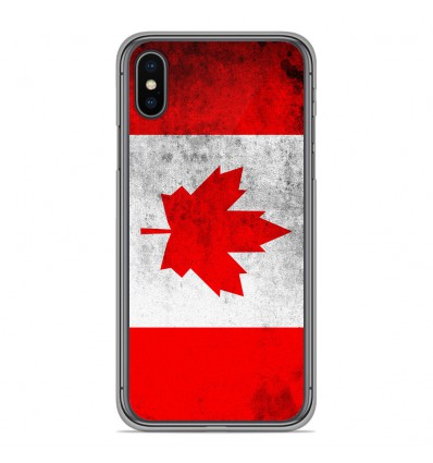 Coque en silicone Apple iPhone XS Max - Drapeau Canada