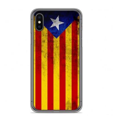 Coque en silicone Apple iPhone XS Max - Drapeau Catalogne