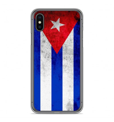 Coque en silicone Apple iPhone XS Max - Drapeau Cuba