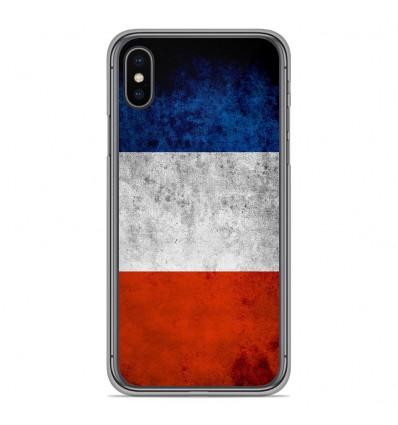 Coque en silicone Apple iPhone XS Max - Drapeau France
