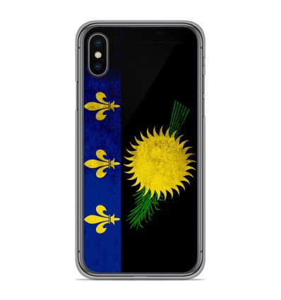 Coque en silicone Apple iPhone XS Max - Drapeau Guadeloupe