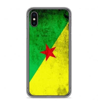 Coque en silicone Apple iPhone XS Max - Drapeau Guyane