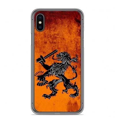 Coque en silicone Apple iPhone XS Max - Drapeau Holande