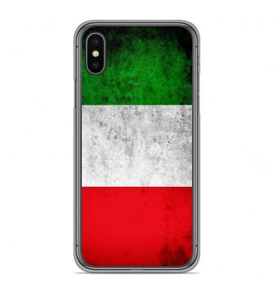 Coque en silicone Apple iPhone XS Max - Drapeau Italie