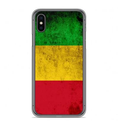 Coque en silicone pour Apple iPhone XS Max - Drapeau Mali