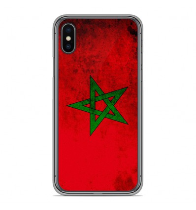 Coque en silicone pour Apple iPhone XS Max - Drapeau Maroc