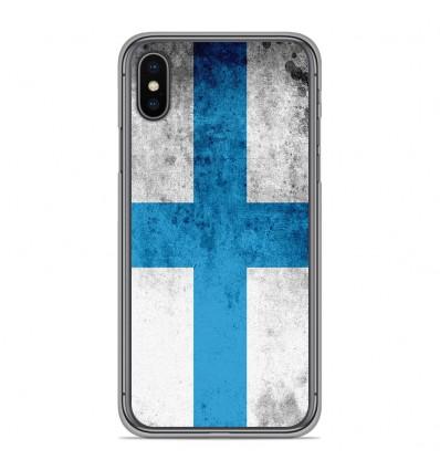 Coque en silicone Apple iPhone XS Max - Drapeau Marseille