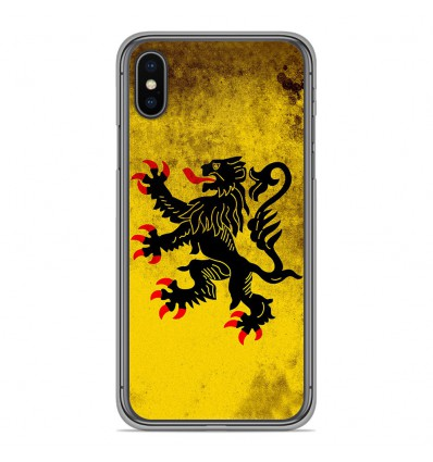 Coque en silicone Apple iPhone XS Max - Drapeau Nord