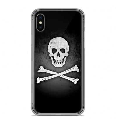 Coque en silicone Apple iPhone XS Max - Drapeau Pirate
