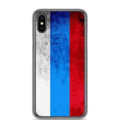 Coque en silicone Apple iPhone XS Max - Drapeau Russie