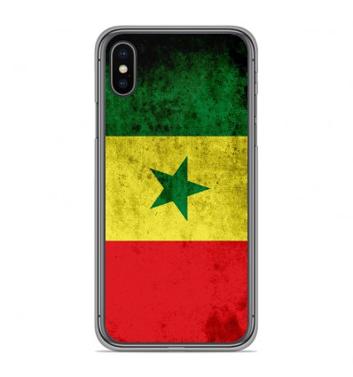 Coque en silicone Apple iPhone XS Max - Drapeau Sénégal