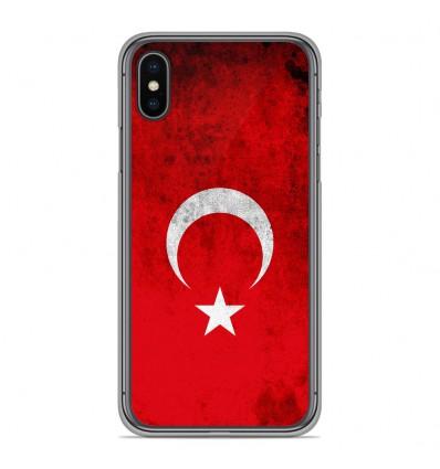 Coque en silicone pour Apple iPhone XS Max - Drapeau Turquie