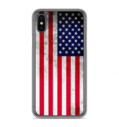 Coque en silicone Apple iPhone XS Max - Drapeau USA