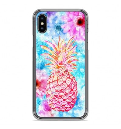 Coque en silicone pour Apple iPhone XS Max - Ananas