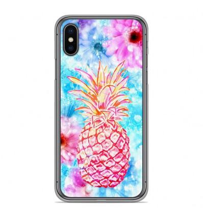 Coque en silicone Apple iPhone XS Max - Ananas