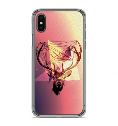 Coque en silicone pour Apple iPhone XS Max - Cerf Hipster