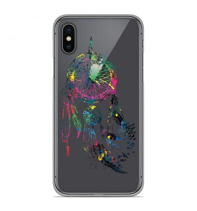 Coque en silicone Apple iPhone XS Max - Dreamcatcher Gris