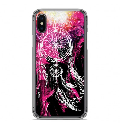 Coque en silicone Apple iPhone XS Max - Dreamcatcher Rose
