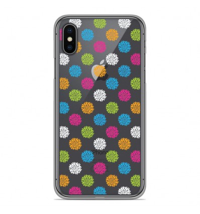 Coque en silicone Apple iPhone XS Max - Floral