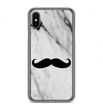 Coque en silicone Apple iPhone XS Max - Hipster Moustache