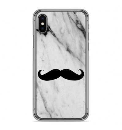 Coque en silicone pour Apple iPhone XS Max - Hipster Moustache