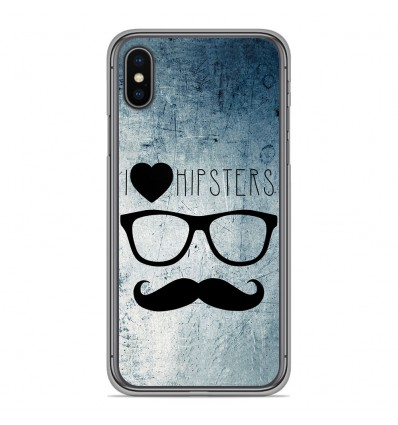 Coque en silicone Apple iPhone XS Max - I Love Hipster